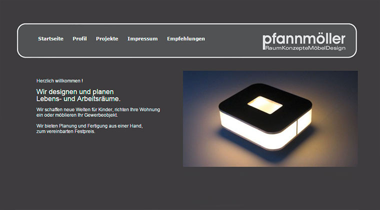 Webdesign für Möbeldesigner in Leipzig
