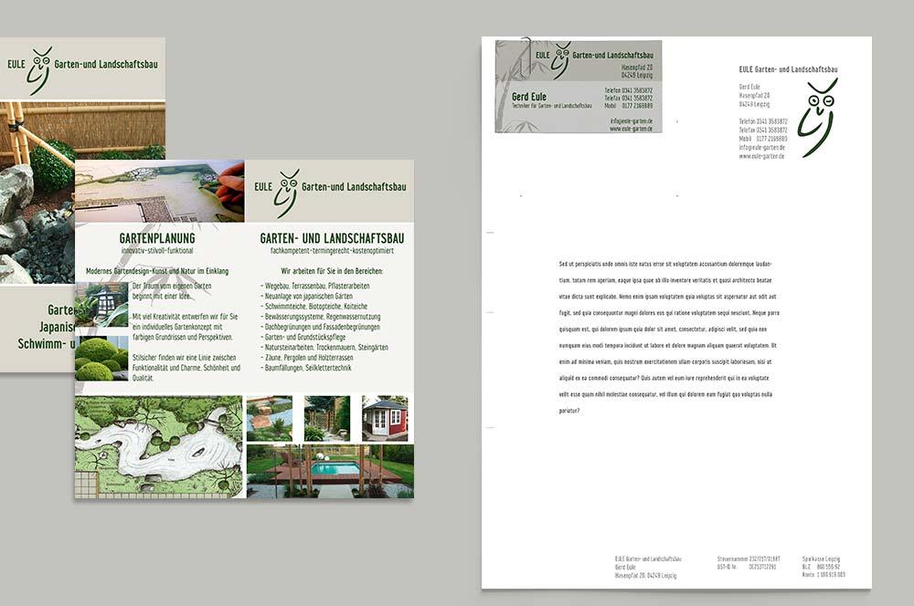 briefbögen gestalten lassen: briefbögen und flyer für galabau, Garten Ideen
