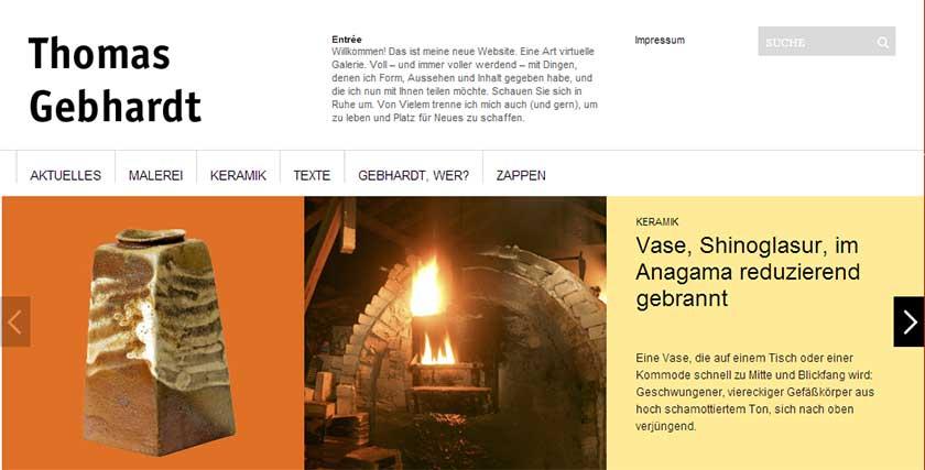 Webdesign für Keramiker
