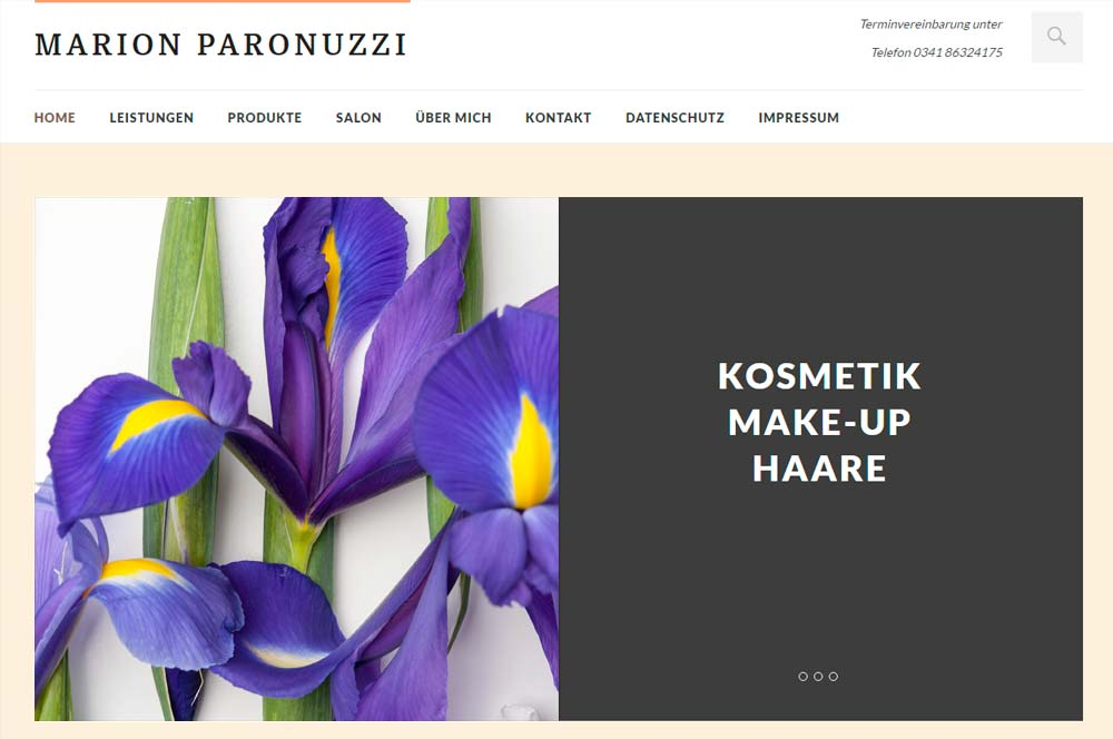 Website Marion Paronuzzi