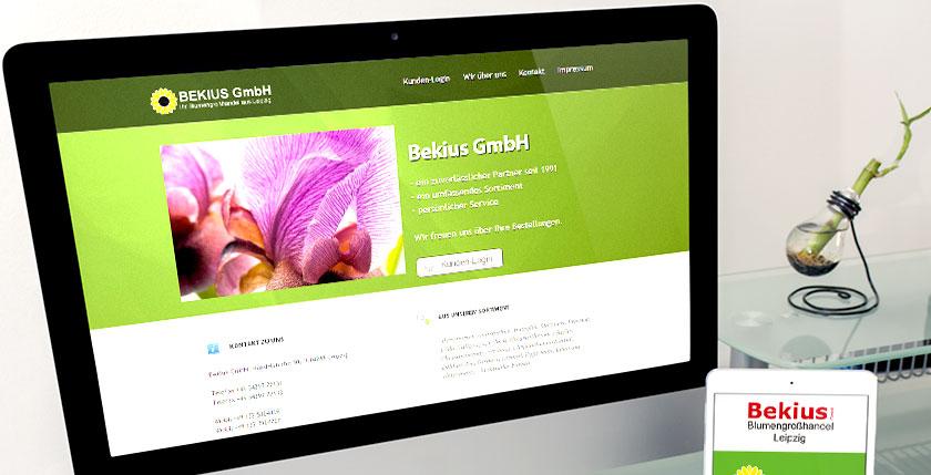 Webdesign Blumenhandel