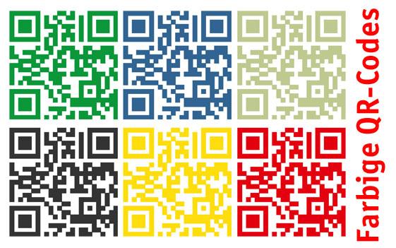 Farbige QR-Codes