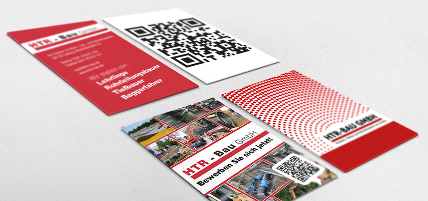Postkarte mit QR-Code