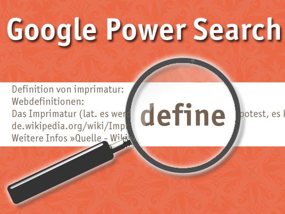Google Suche mit define
