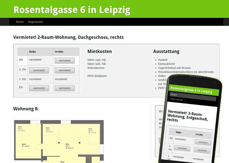 Webdesign Wohnungsvermietung