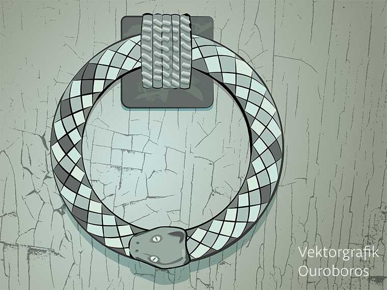 Vektorgrafik Ouroboros Schlange