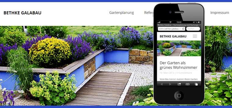 Responsive Webdesign Galabau