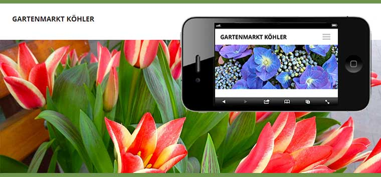 Webdesign Leipziger Gartenmarkt