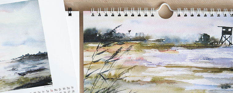 Kalender DIN A5 Aquarellmalerei