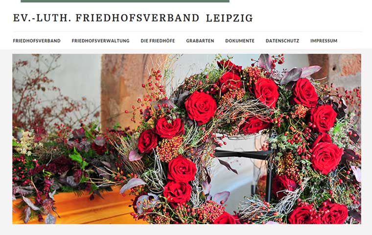 Webdesign Friedhofsverband Leipzig
