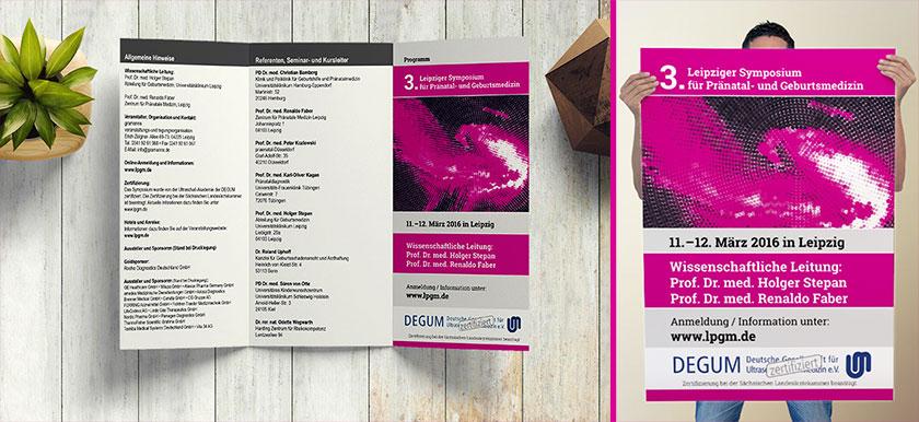 Plakatgestaltung und Folder aus Leipzig