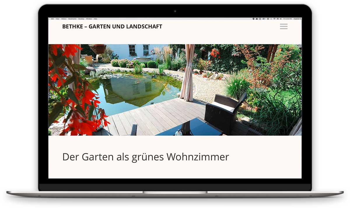 Webdesign für Galabau
