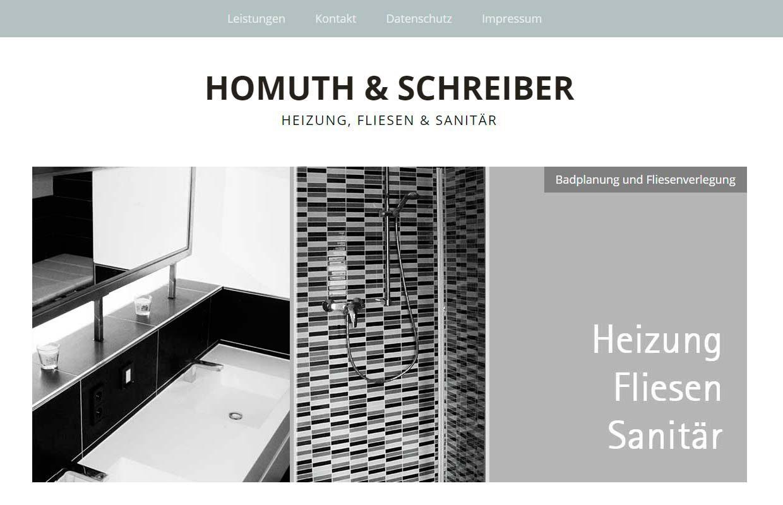 Website Heizungsbaufirma