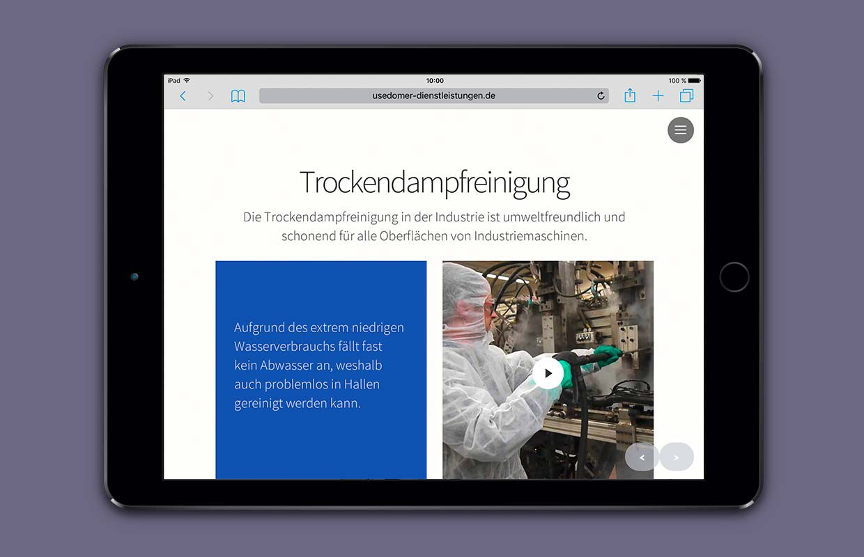 Website Trockendampfreinigung