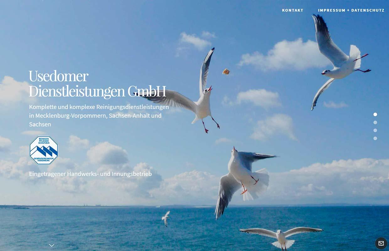 Website Usedomer Dienstleistungen