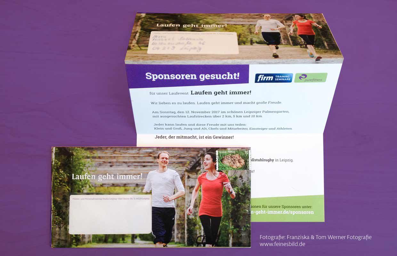Briefumschlag Laufsport in Leipzig