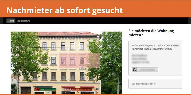 Website Nachmietersuche